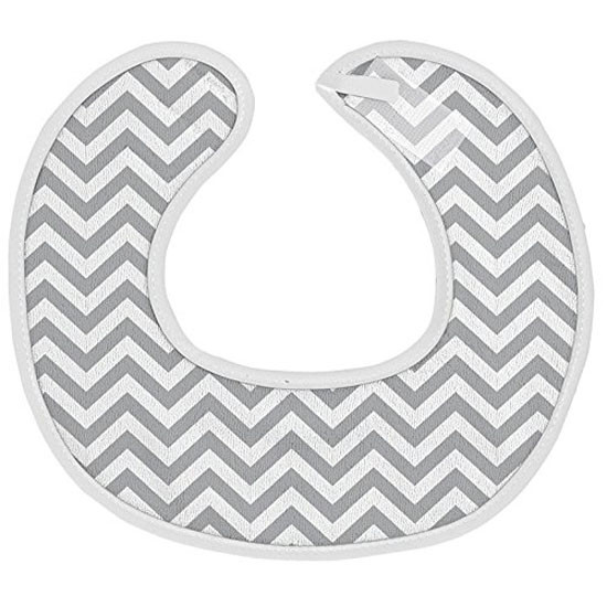 Kushies Chin Drool Bib Terry for Newborn - Grey Chevron