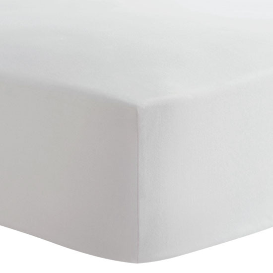 Kushies Organic Fitted Change Pad Sheet - White