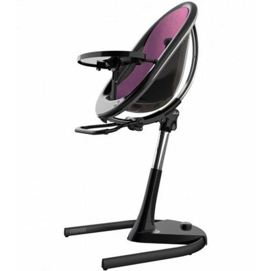 Mima Moon 2G High Chair - Black/Eggplant