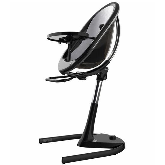 Mima Moon 2G High Chair - Black/Silver