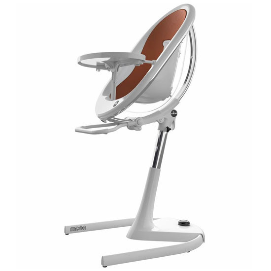 Mima Moon 2G High Chair - White/Camel
