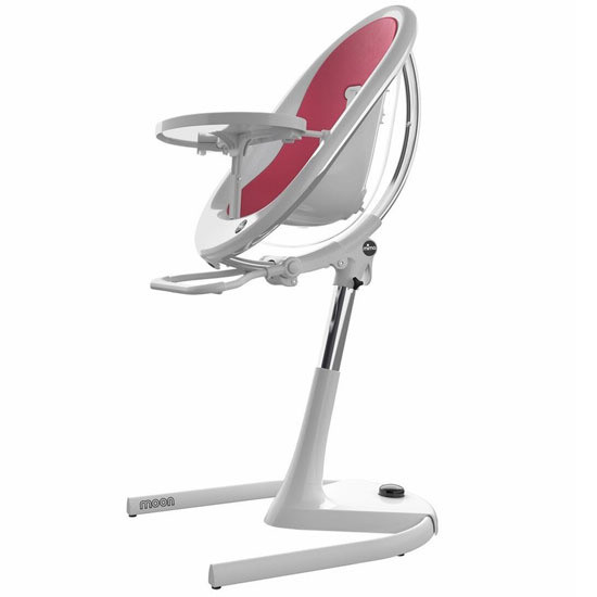 Mima Moon 2G High Chair - White/Fuchsia