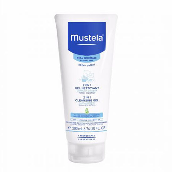Mustela 2-in-1 Cleansing Gel - 200ml Product