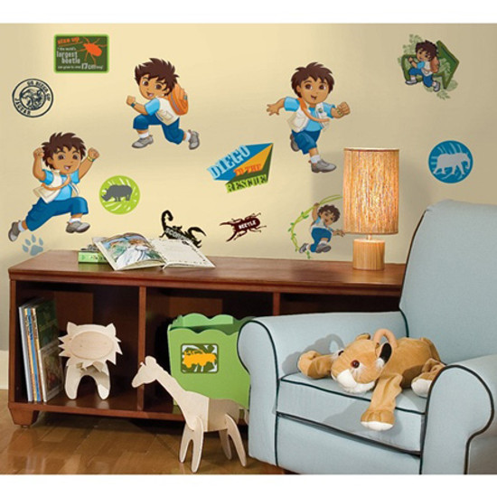 RoomMates Appliques Go Diego Go Product