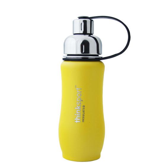 ThinkBaby thinksport Insulated Sports Bottle 12oz - Coated Light Yellow