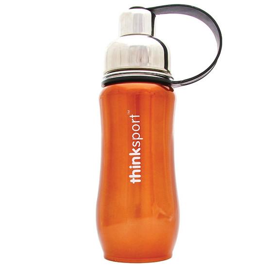 ThinkBaby thinksport Insulated Sports Bottle 12oz - Metallic Orange Product