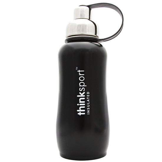 ThinkBaby thinksport Insulated Sports Bottle 25oz - Coated Black