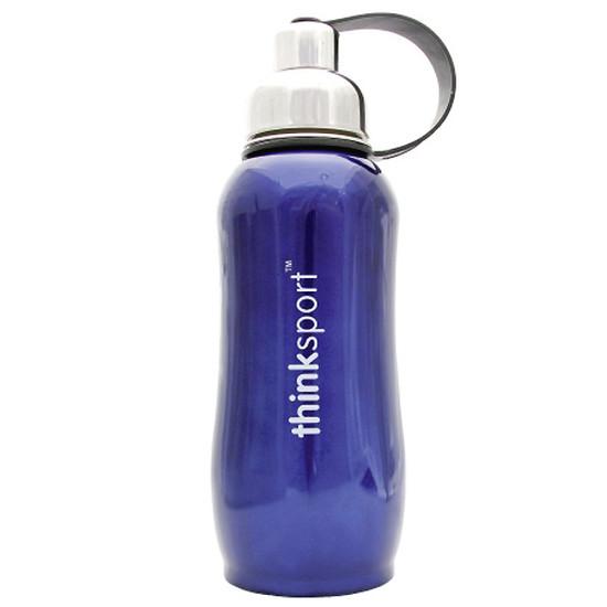 ThinkBaby thinksport Insulated Sports Bottle 25oz - Metallic Blue