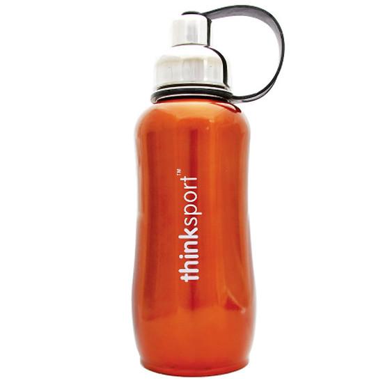 ThinkBaby thinksport Insulated Sports Bottle 25oz - Metallic Orange Product