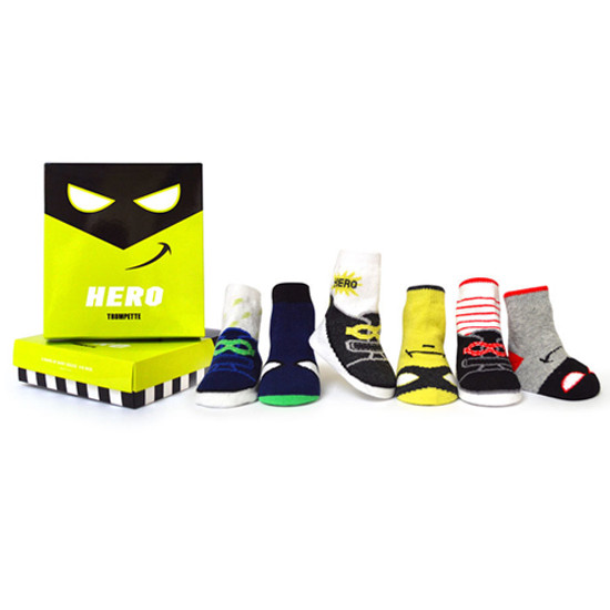 Trumpette Hero Socks - 6 Pack - 0-12 Months Product