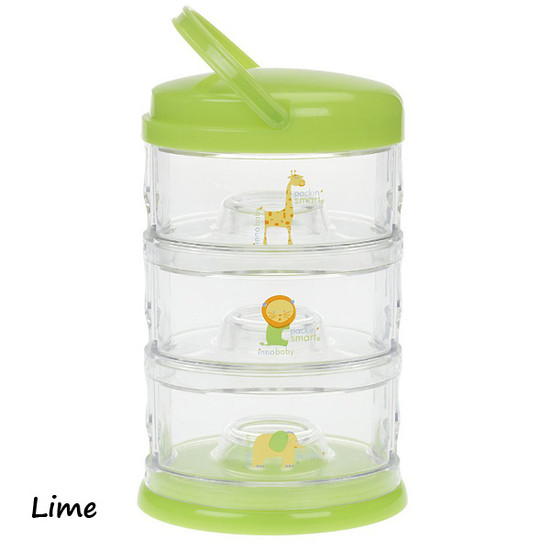 Innobaby Packin' SMART 3 Tier Zoo Animals - Lime-2