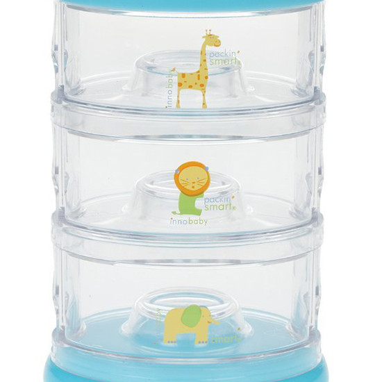 Innobaby Packin' SMART 3 Tier Zoo Animals - Lime-5