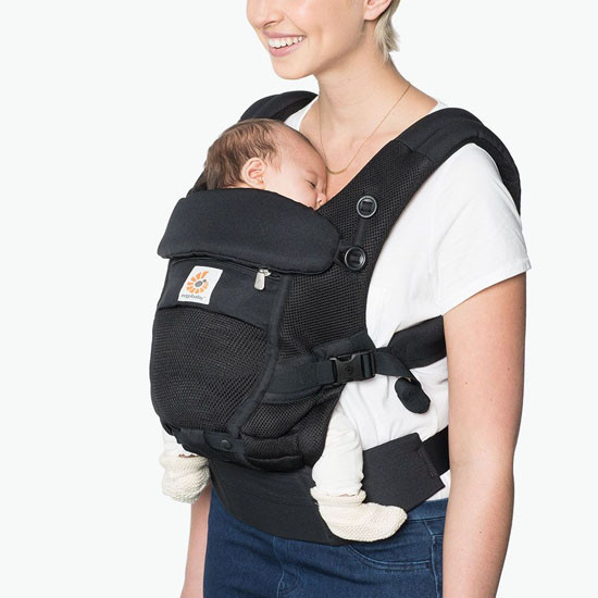 Ergo Baby Adapt Cool Air Mesh Baby Carrier - Onyx Black-2