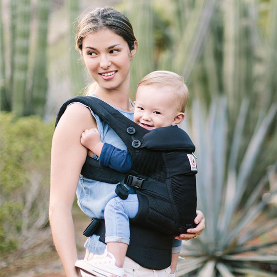 Ergo Baby Adapt Cool Air Mesh Baby Carrier - Onyx Black-4