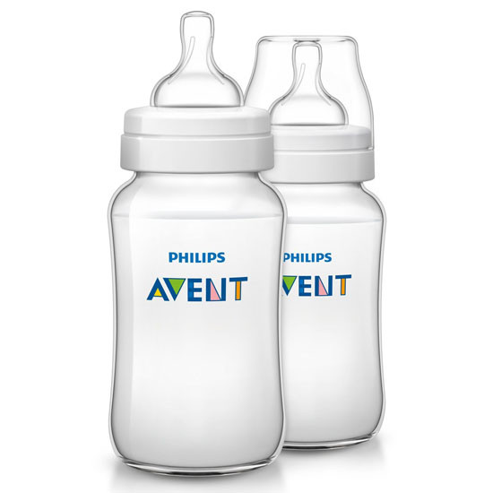 Philips Avent Classic Plus Baby Bottles - 11oz - 2 Pack