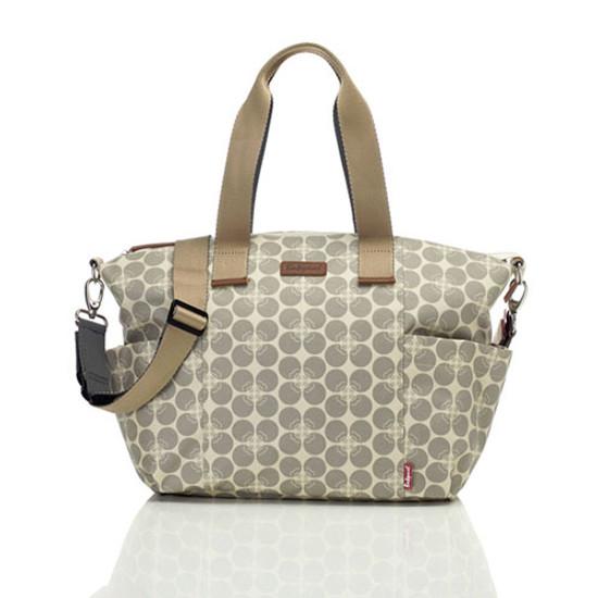Babymel Evie Diaper Bag - Grey Floral Dot