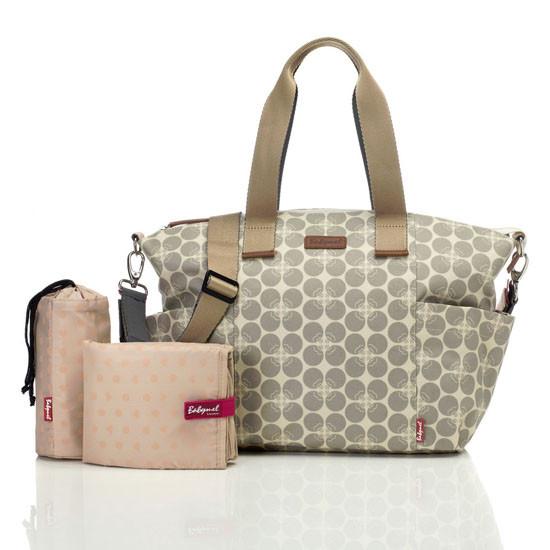 Babymel Evie Diaper Bag - Grey Floral Dot-2