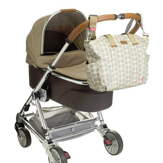 Babymel Evie Diaper Bag - Grey Floral Dot-4