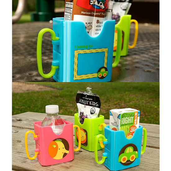 Innobaby Packin' SMART Keepaa Multi Use Drink & Juice Box Holder - Strawberry-4