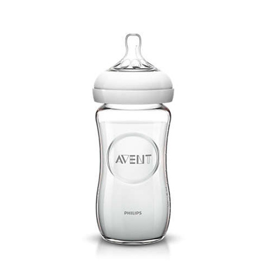 Philips Avent Natural Glass Bottle - 8 oz - 3 Pack-2