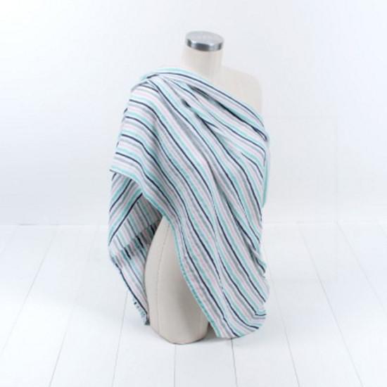 Bebe Au Lait Classic Muslin Nursing Scarf - Candy Stripes-2