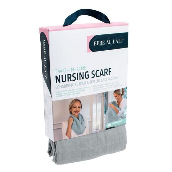 Bebe Au Lait Deluxe Blend Muslin Nursing Scarf - Pebble-3
