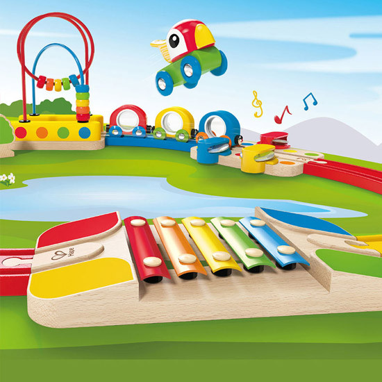 Hape Sight & Sounds Railway Set-3