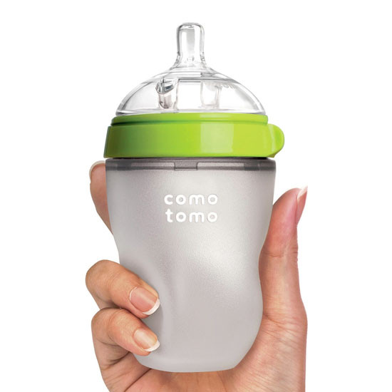 Comotomo Natural Feel Baby Bottle - 8 oz  - Green-4