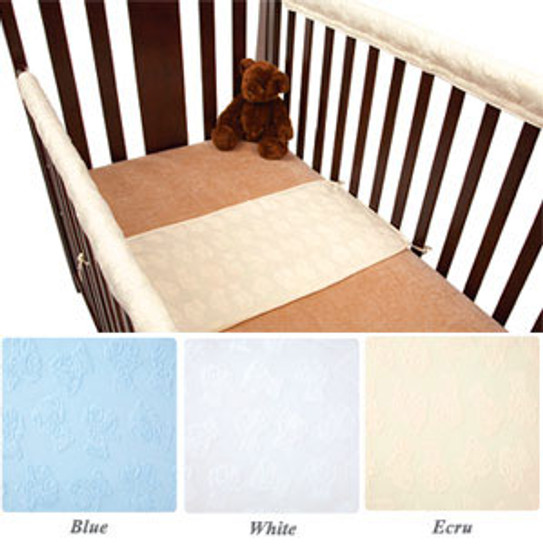 American Baby Company Teddy Bear Teddy Sheet Saver - White