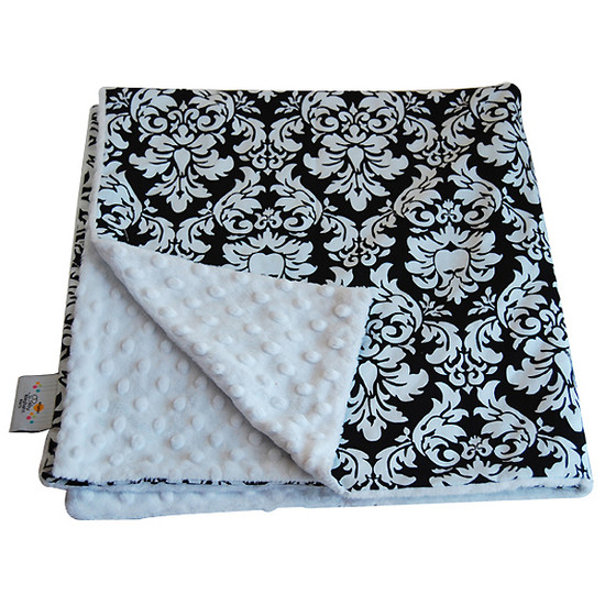 Baby Elephant Ears, Inc. Large Blankets - Black Dandy Damask Product