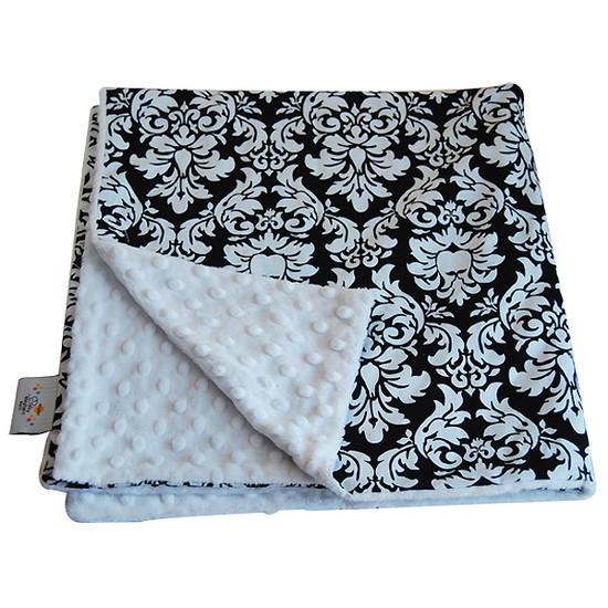 Baby Elephant Ears, Inc. Large Blankets - Black Dandy Damask