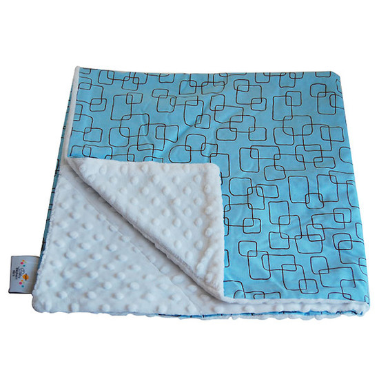 Baby Elephant Ears, Inc. Large Blankets - Blue Mod Square