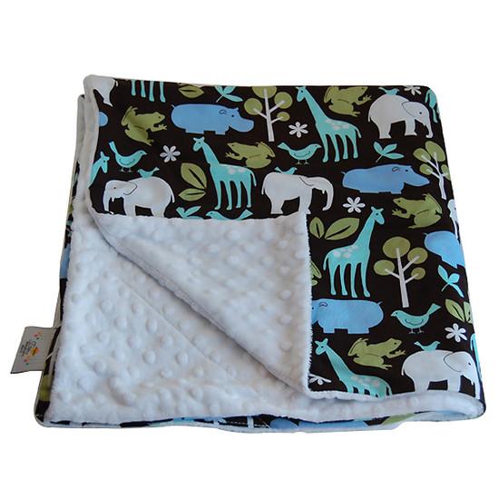 Baby Elephant Ears, Inc. Large Blankets - Zoology Blue
