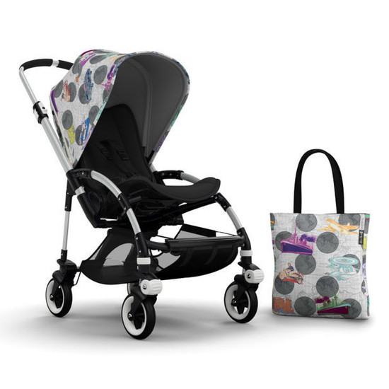 Bugaboo Bee3 Andy Warhol Accessory Pack - Globetrotter/Dark Grey Product