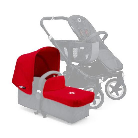 Bugaboo Donkey Tailored Fabric Set Extendable Sun Canopy - Red