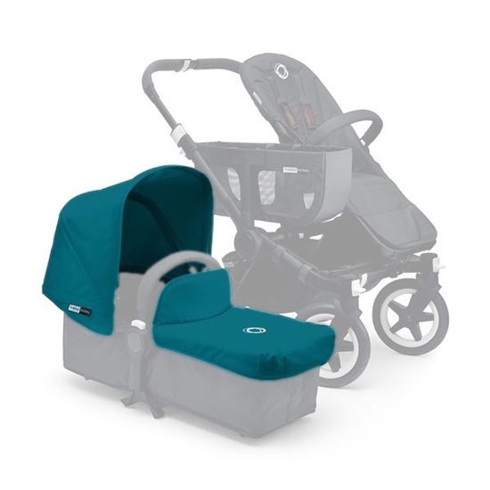Bugaboo Donkey Tailored Fabric Set Extendable Sun Canopy - Petrol Blue