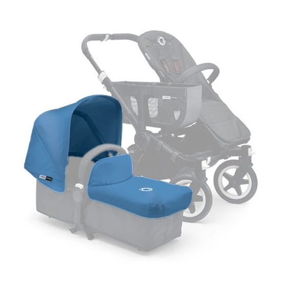 Bugaboo Donkey Tailored Fabric Set Extendable Sun Canopy - Ice Blue