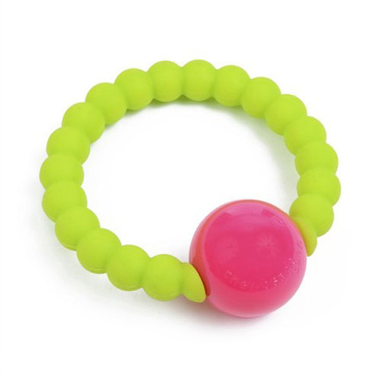 Chewbeads Mercer Rattle - Chartreuse