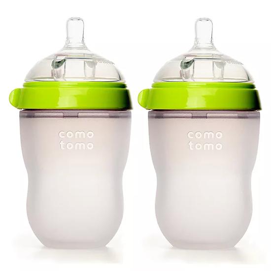 Comotomo Natural Feel Baby Bottle - 8 oz  (2 Pack)