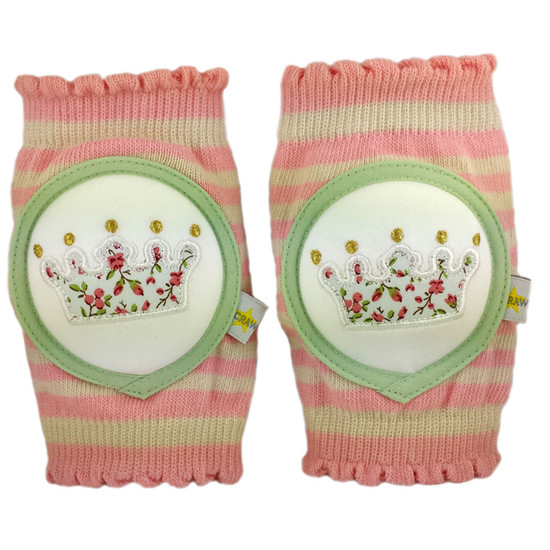 Crawlings Baby Knee Pad - Cotton Candy Crown