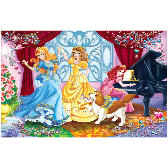 Creative Toy Company Jewel Princesses Play & Dance Puzzle