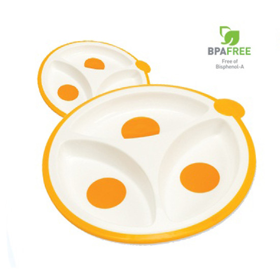 Dr. Brown Divided Plates - 2pk
