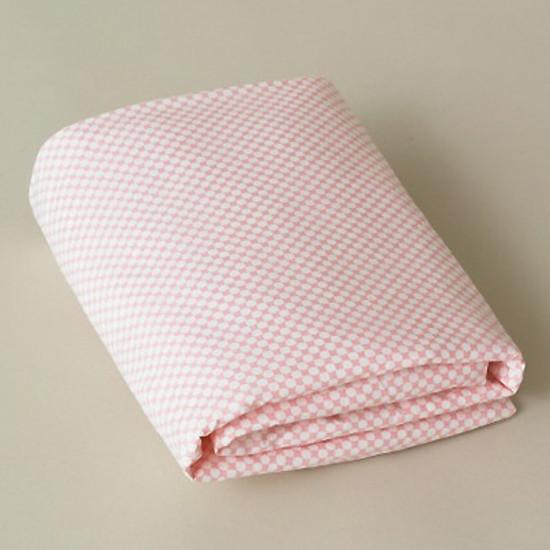 DwellStudio Check Blossom Fitted Crib Sheet Product