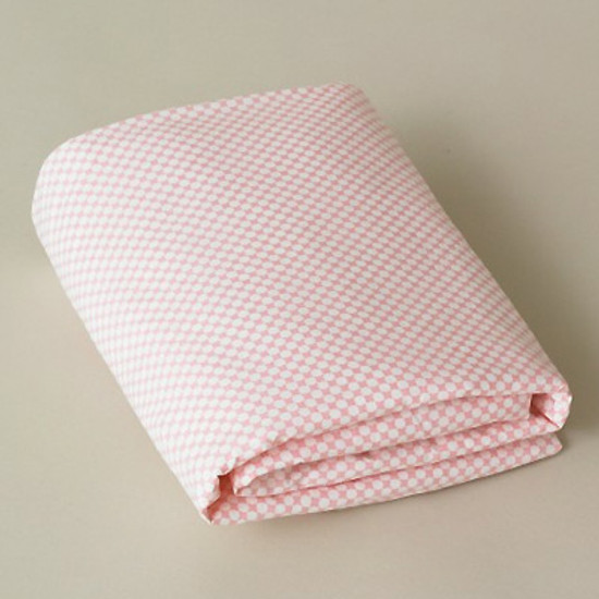 DwellStudio Check Blossom Fitted Crib Sheet
