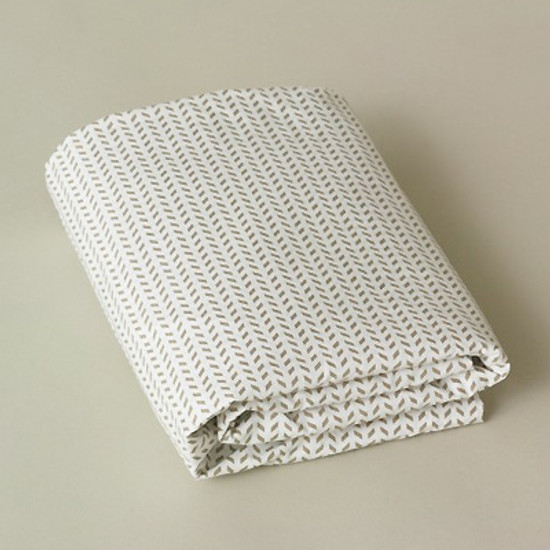 DwellStudio Chevron Chocolate Fitted Crib Sheet Product