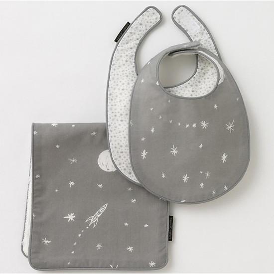 DwellStudio Galaxy Dove Bib & Burp Set Product