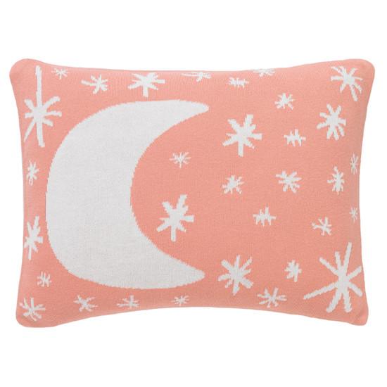 DwellStudio Galaxy Knitted Boudoir Pillow In Blossom