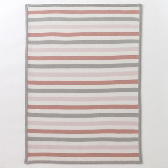 DwellStudio Multi-Stripe Blossom Knit Blanket Product