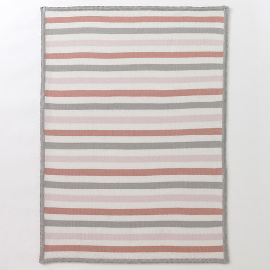 DwellStudio Multi-Stripe Blossom Knit Blanket