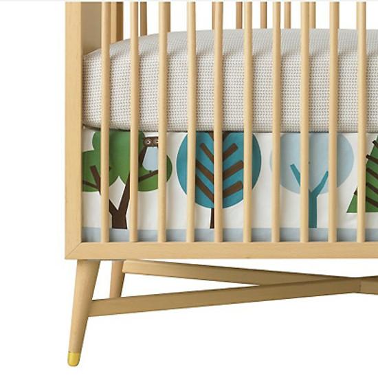 DwellStudio Owls Sky Canvas Crib Skirt